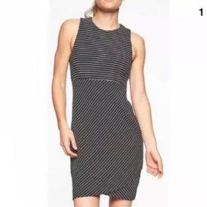 Athleta La Palma Black Stripe Dress size Small